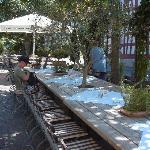 Romantischer Restaurantgarten