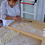Mama making pasta