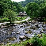 Watersmeet House and Tea Garden - a great place to rest your feet