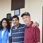 Mr Lyle (extreme right) with us.