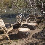 Firepit along the river....beautiful.