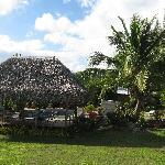 Pension Fare Maeva, côté jardin piscine