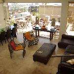 View over the lounge