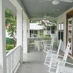 Front porch of Main House with rocking chairs