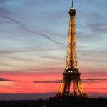 our view of Tour Eiffel at sunset