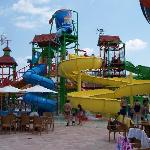 The back of the main water park