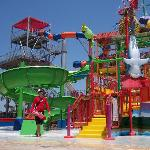 Another angle of the main kids water park