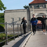Running through Kastellet - one of the world's oldest still functioning military bases