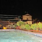 Roof top pool all to ourselves at night. Music and a cooler makes it for a great evening!