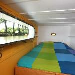 A view of Yellow Cabin of B&B Barge Durandal