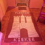 Tilework on the entrance floor