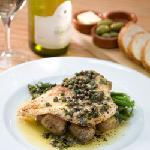 Pan-fried Skate, lemon & caper butter.