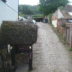 Entrance to cellar bar & ramp to car park