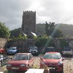 View from garden towards church