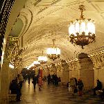 """Alexeeva, one of the first """"less opulent"""" stations, nevertheless is impressive"""