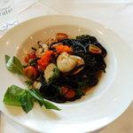 Seafood Squid ink Spaghetti