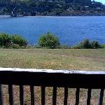 View of the river from out decks.  Closest waterfront lodging in Gold Beach, Oregon