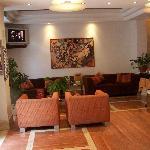 The hotel reception area