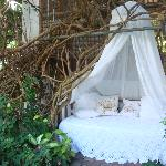 one of the cosy nooks around the garden