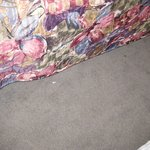 Carpet in between the beds had stains all kinds of guck on it. It was clean compared to other ar