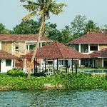 the resort from the boat