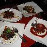 Chinese food at Red Lounge Raffles.