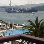 view of Bosphorus from the balcony