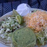 Carnia-sada taco & pork tostada were delicous & the guacamole was great
