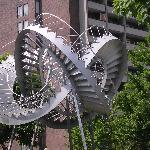 "sculpture in front of ""Dorion"""