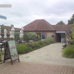 The tea room and gardens
