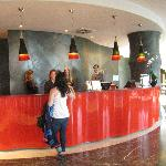 Hotel color theme of red, black, white