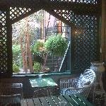 Lounge view of courtyard