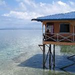Longhouse on stilts - ocean view