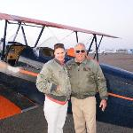 Our plane and pilot