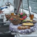 Food served on deck