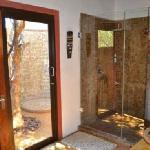 Inside and outside shower