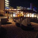 Water Grill area at night