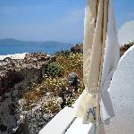 Left to right view from shared balcony that is the Aegean Room.