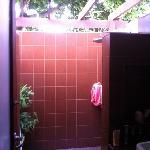 die Open-Air-Dusche