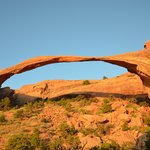 Another view of Landscape Arch at sunrise