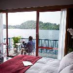camera superior vista lago