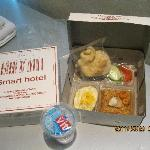 Breakfast in a box -- would come differently everyday but still in a box (Photos by: Ricoy)