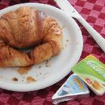 simple breakfast. Really hard croissant but enjoyed it as well as Chocolate Danish