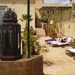 une des terrasses pour un bain de soleil