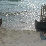 Accès mer pas sécuriser pour les enfants attention très dangereux car escalier en béton armé trè