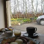 Irish breakfast view