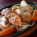 Close-Up of Seafood Fajitas at Mariachi