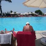 Nice pool setting