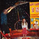 My daughter taking part in children's entertainment
