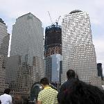 One World Trade Center construction, as seen from the NY Water Taxi
